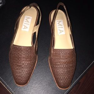 MIA authentic wood loafers flats